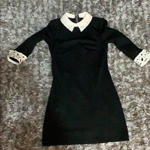 Ted Baker white collar black dress size 2